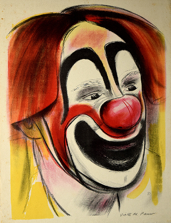 [Clown with Red Nose]